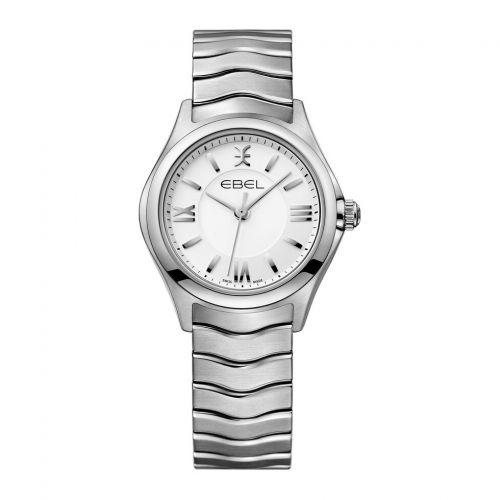 Ebel Wave Lady Damenuhr silber Edelstahl-Armband 1216374