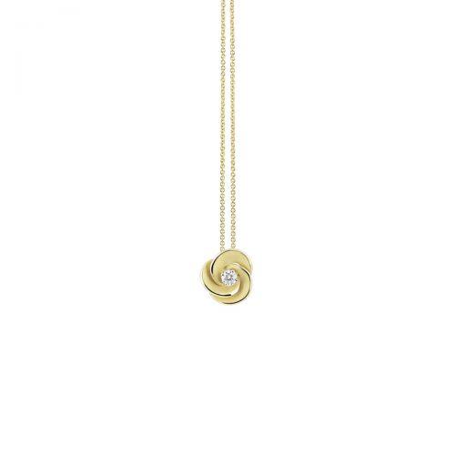 Annamaria Cammilli Anhänger & Halskette Desert Rose Gold mit Diamanten Essential GPE3234Y