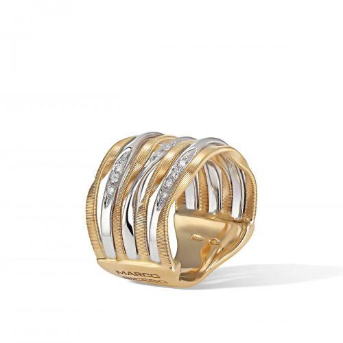 Marco Bicego Marrakech Onde Ring mit Diamanten Gold 7 Stränge AG350 B YW