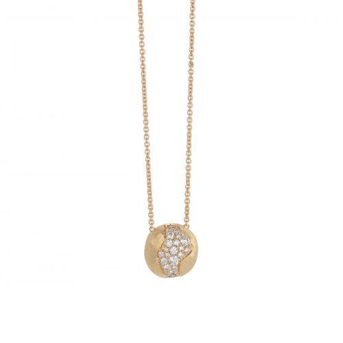 Marco Bicego Africa Anhänger & Kette Gold mit Diamanten Pave CB2291 B Y