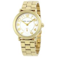 Marc Jacobs Uhr Damen Gold Weiß Riley MJ3470