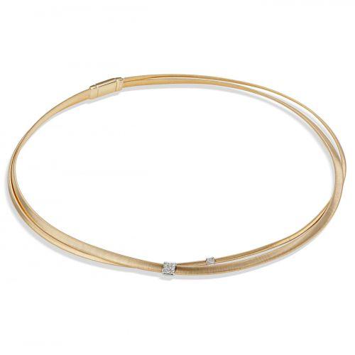 Marco Bicego Kette Masai Gold mit Diamanten Paves 2 Stränge CG732 B YW