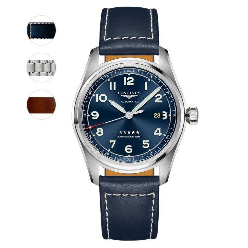 Longines Spirit Prestige Edition 42mm Blau Automatic Chronometer Herrenuhr L3.811.4.93.9