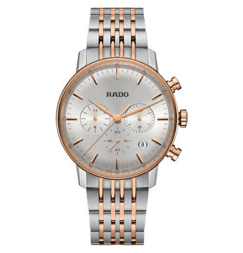 Rado Coupole Classic Chronograph Herrenuhr XL 42mm Quarz Bicolor Edelstahl-Armband R22910123