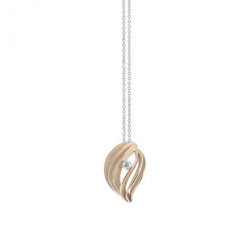 Annamaria Cammilli Halskette & Anhänger Velaa Star Beige Gold mit Diamanten Essential GPE3253N