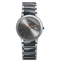 Rado Centrix S Damenuhr Silber Grau Keramik-Armband Quarz 28mm R30928132 | Uhren-Lounge