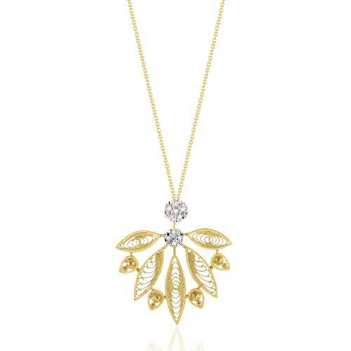 Luisa Rosas Kette mit Anhänger Gold & Diamanten House of Filigree HCO5515.AE