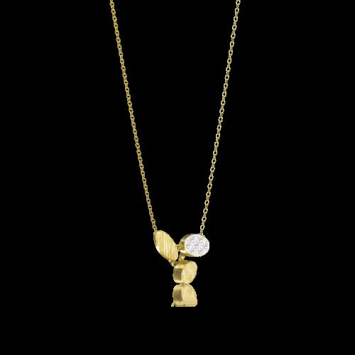 Luisa Rosas BE Halskette mit Diamanten Gold 18 Karat XS LRBE102