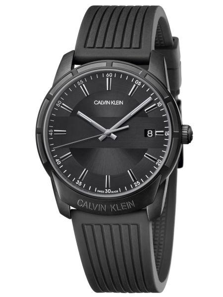 Calvin Klein Uhr Herren 42mm Quarz Schwarz Kautschuk-Armband Evidence K8R114D1 | Uhren-Lounge