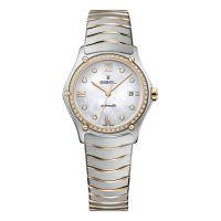 Ebel Sport Classic Lady Automatik Damenuhr mit Diamanten Bicolor Rosegold Silber Perlmutt Zifferblatt weiß 1216430A | Uhren-Lounge