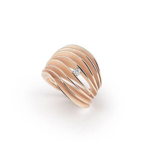 Annamaria Cammilli Velaa Ring mit Diamanten Rosegold Pink Champagne Gold 18 Karat GAN3151P