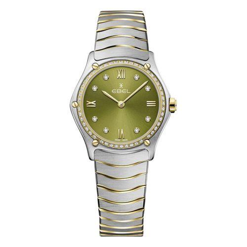 Ebel Sport Classic Lady Damenuhr mit Diamanten Bicolor Grün 29mm 1216447A | Uhren-Lounge