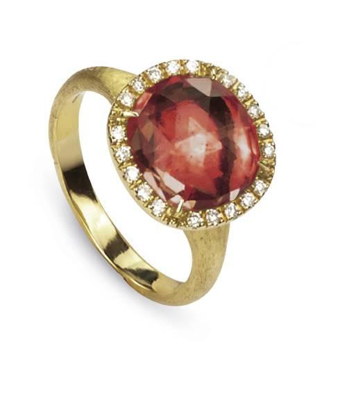 Marco Bicego Ring rosa Turmalin mit Diamanten Gold 18 Karat Jaipur AB449-B2 TR01 | Uhren-Lounge
