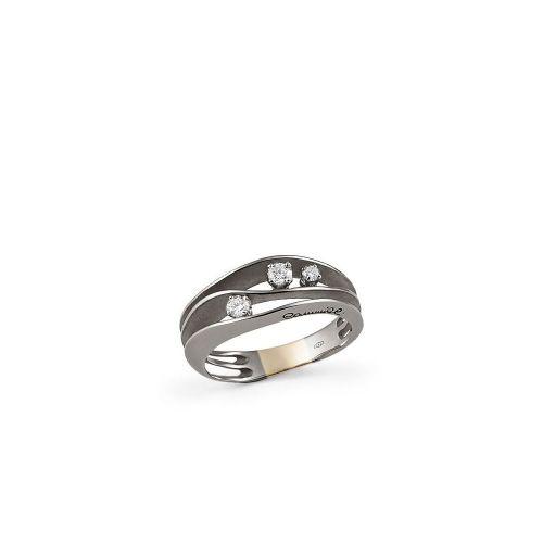 Annamaria Cammilli Dune Ring Schwarz Gold Black Lava mit Diamanten GAN2662E | Uhren-Lounge