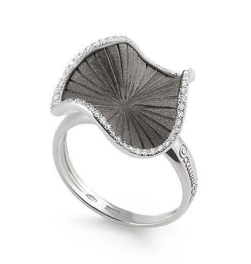 Annamaria Cammilli Ring Schwarz-Gold & Weißgold mit Diamanten Sultana GAN2356E | Uhren-Lounge