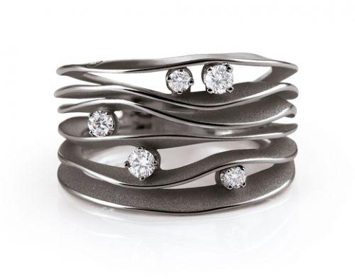 Annamaria Cammilli DUNE Damen Ring 750 Schwarz Lava Gold GAN0914E