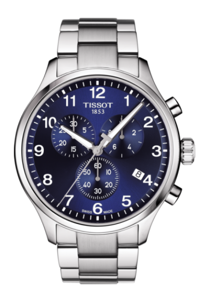 TISSOT CHRONO XL CLASSIC Herren Chronograph 45mm mit Blauenen Zifferblatt T116.617.11.047.01