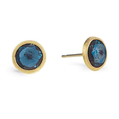 Marco Bicego Ohrringe Gold mit blauem London-Topas Jaipur Ohrstecker OB957-TPL01
