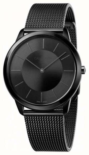 Calvin Klein Uhr Herren minimal 40mm schwarz Milanaise-Armband K3M214B1 | Uhren-Lounge