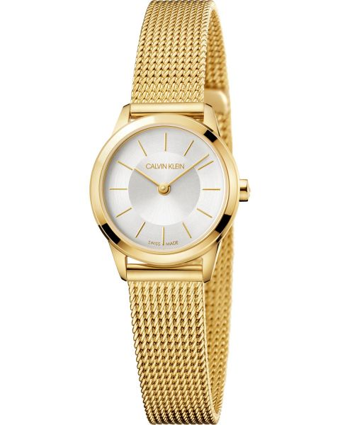 Calvin Klein Damenuhr Golduhr 24mm minimal K3M23526 | Uhren-Lounge