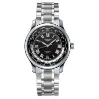The Longines Master Collection Automatic GMT World Time Weltzeit Herrenuhr Silber mit schwarzem Zifferblatt & Edelstahl-Armband 39 mm L2.631.4.51.6