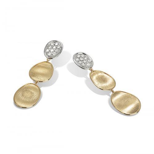 Marco Bicego Ohrringe Lunaria Gold mit Diamanten Pavé OB1465 B YW