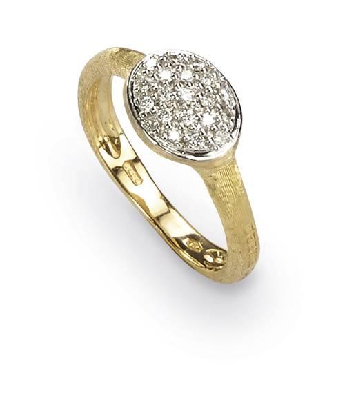 Marco Bicego Ring Diamanten Gelbgold 18 kt. Siviglia Diamantring AB489-B | Uhren-Lounge
