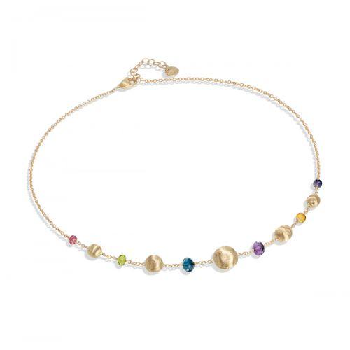 Marco Bicego Africa Halskette mit bunten Edelsteinen Gold 18 Karat CB2323 MIX02 Y