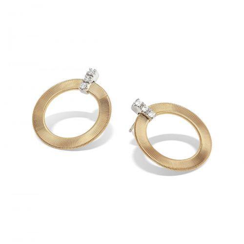 Marco Bicego Masai Ohrringe Gold mit Diamanten OG378 B1 YW