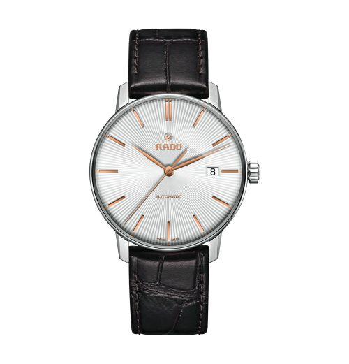 Rado Coupole Classic Automatic L Herrenuhr mit weißem Zifferblatt & braunem Leder-Armband 38mm R22860025   Uhren-Lounge
