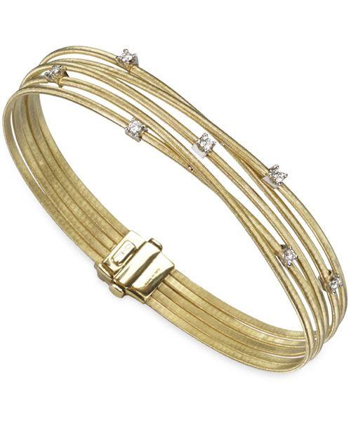 Marco Bicego Armreif Goa Gold mit Diamanten 5 Stränge Armband BG618 B YW