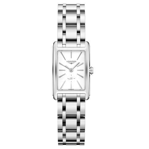 Longines DolceVita Damenuhr Silber Weiß Edelstahl-Armband 32mm Quarz L5.255.4.11.6