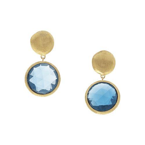 Marco Bicego Jaipur Ohrhänger mit blauen London Topas Edelsteinen aus Gold OB1082-O-TPL01 zum günstigen Preis online kaufen | Uhren-Lounge