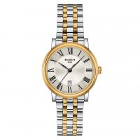 Tissot Damenuhr Bicolor Gold Silber Edelstahl-Armband Quarz 30 mm T-Classic Carson Premium T122.210.22.033.00
