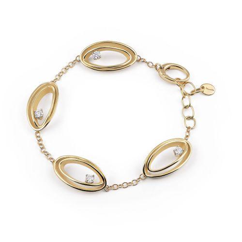 Annamaria Cammilli Armband mit Diamanten Serie Uno Yellow Sunrise Gold 18 Karat GBR2787U | Uhren-Lounge