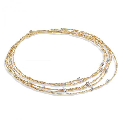 Marco Bicego Marrakech Couture Collier mit Diamanten Gold 18 Karat Kette CG340 B8 YW