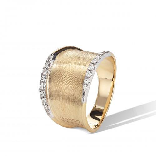 Marco Bicego Ring Gold mit Diamanten Lunaria Diamantring AB550 B YW