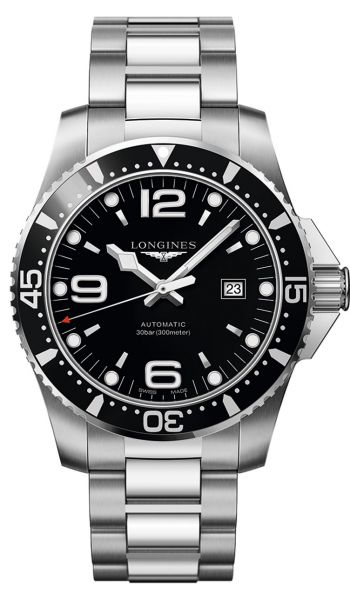Longines HydroConquest 44mm Automatic Schwarz Herren Taucheruhr L3.841.4.56.6
