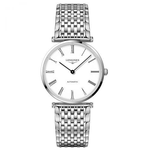 Longines La Grande Classique Automatic Herrenuhr Silber Weiß Edelstahl-Armband 36mm L4.908.4.11.6