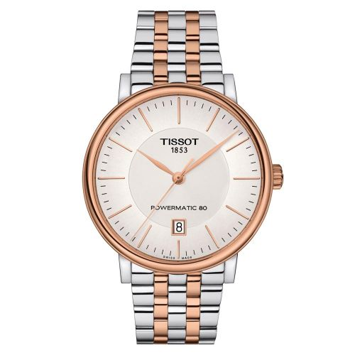 Tissot Carson Premium Powermatic 80 Bicolor Rosegold Herrenuhr 40mm T122.407.22.031.01