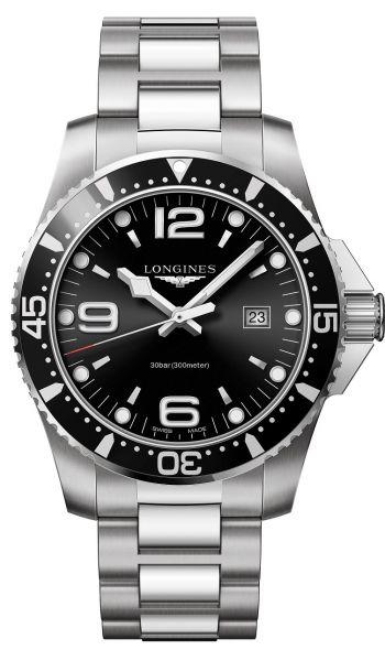 Longines HydroConquest 44mm Quarz schwarz L3.840.4.56.6 Herrenuhr Taucheruhr | Uhren-Lounge