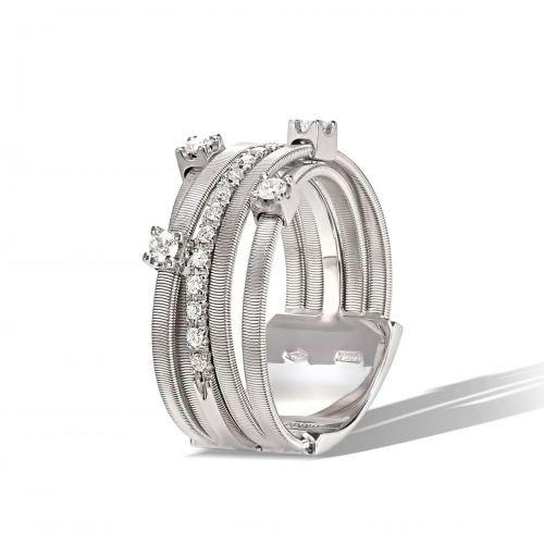 Marco Bicego Goa Ring Weißgold mit Diamanten 5 Stränge AG270 B2 W