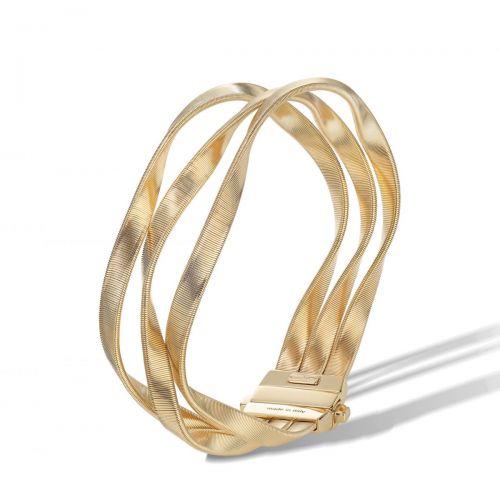 Marco Bicego Armreif Gold 18 Karat 3 Stränge Marrakech Supreme Armband BG742 Y