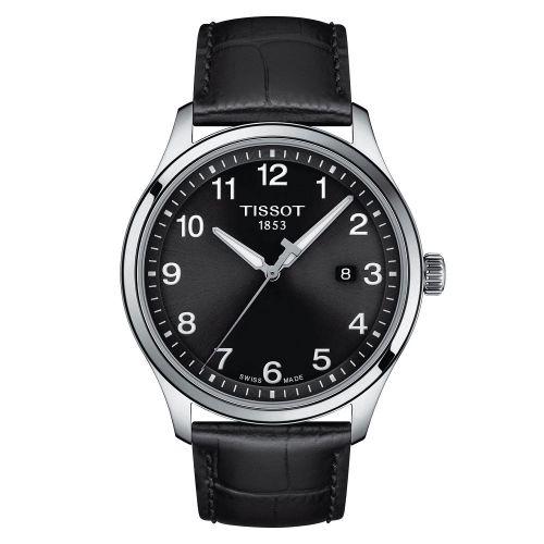 Tissot Gent XL Classic 42mm Schwarz Leder-Armband Quarz T116.410.16.057.00   Uhren-Lounge