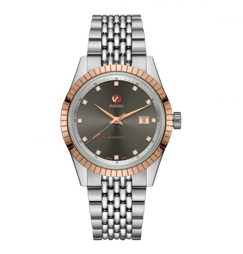 Rado HyperChrome Classic Automatic Diamonds Herrenuhr 42mm Bicolor Edelstahl-Armband R33100703