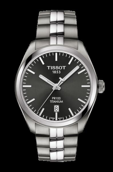 Tissot PR 100 Titanium Herrenuhr 39mm Silber Grau Anthrazit T101.410.44.061.00