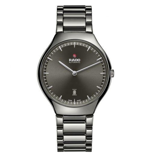 Rado True Thinline Automatic grau Keramik Uhr Herren & Damen 40mm R27088102   Uhren-Lounge