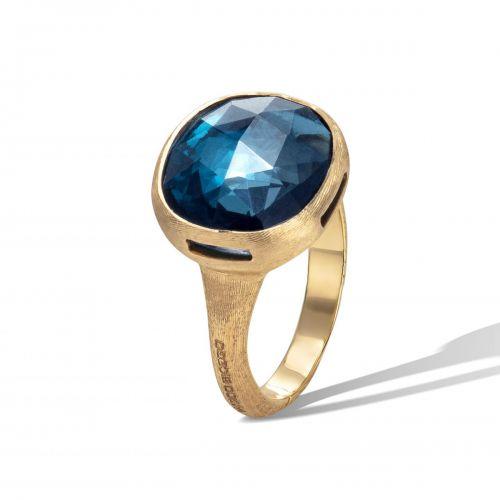 Marco Bicego Jaipur Ring mit blauem London Topas Edelstein Gold AB617 TPL01 Y