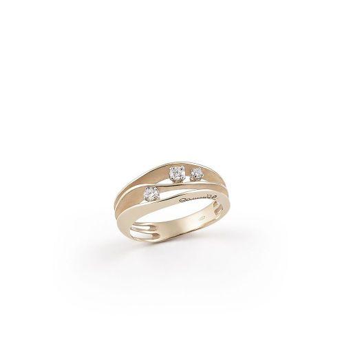 Annamaria Cammilli Dune Ring Natural Beige Gold mit Diamanten GAN2662N | Uhren-Lounge