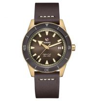 Rado Captain Cook Automatic Bronze Braun Leder-Armband Herrenuhr XL 42mm R32504306 | Uhren-Lounge
